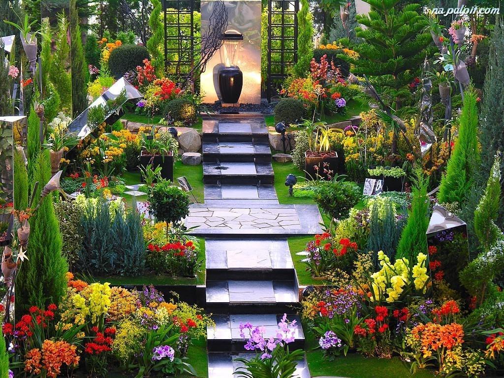 Iglaki Kwiaty Ogrd Schody Na Pulpit